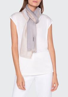 Akris Colorblocked Cashmere Silk Scarf