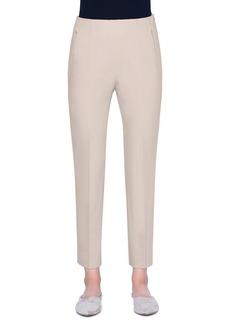 Akris Conny Stretch Cotton Pants  Beige
