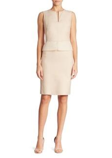 Akris Cotton & Silk Peplum Dress