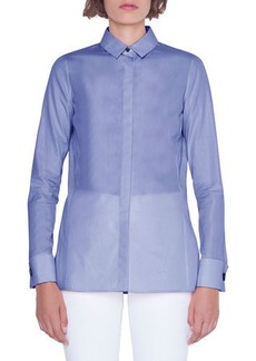 Akris Cotton Button-Front Poplin Blouse