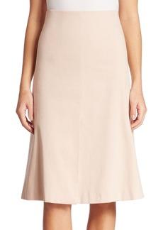 Akris Cotton Double Face A-Line Skirt