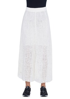 Akris Crocheted Cotton Maxi Skirt