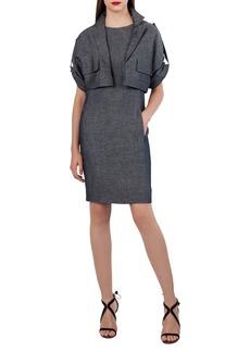 Akris Cropped Wool-Linen Jacket
