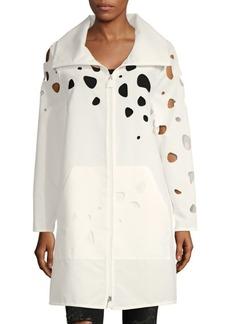 Akris Cut-Out Cotton Longline Jacket
