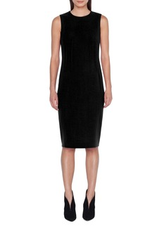 Akris Dart Detail Wool Crepe Sheath Dress