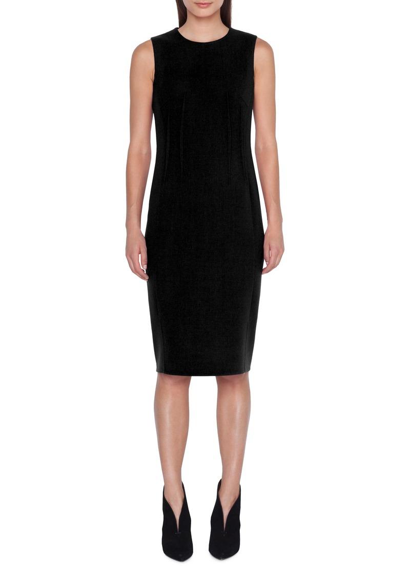 87d5652631 Akris Akris Dart Detail Wool Crepe Sheath Dress