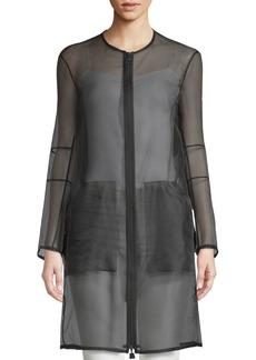 Akris Deidra Silk-Blend Sheer Jacket