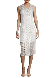 Akris Delaware Cut-Out Silk Midi Dress
