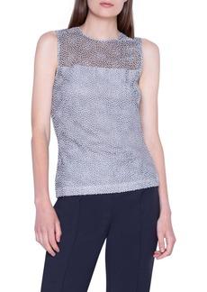 Akris Dot Lace Illusion Shell