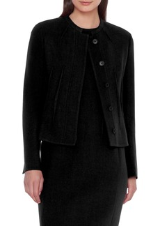 Akris Double Face Crepe Wool Jacket