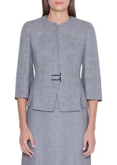 Akris Double Face Linen & Wool Jacket