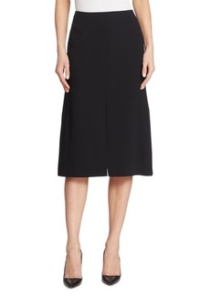 Akris Double-Face Wool A-Line Skirt