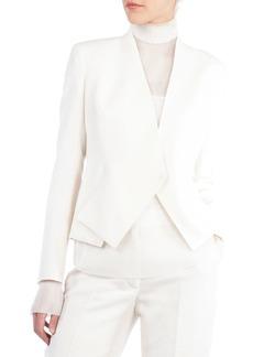Akris Double-Face Wool Origami Cardigan Jacket