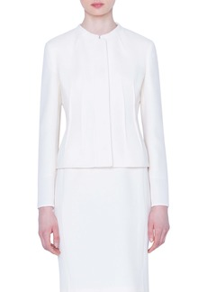 Akris Double Face Wool Crepe Jacket