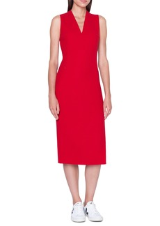 Akris Double Face Wool Crepe Sheath Dress