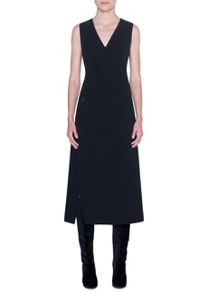 Akris Double Face Wool Midi Dress