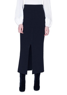 Akris Double Face Wool Midi Skirt