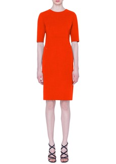 Akris Double Face Wool Sheath Dress