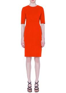 Akris Double Face Wool Sheath Dress
