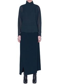 Akris Draped-Back Silk Tunic