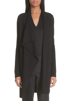 Akris Draped Wool Knit Cardigan