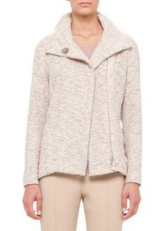 Akris Easy Long-Sleeve Boucle Tweed Jacket