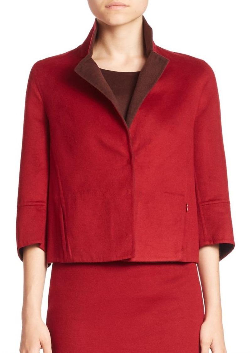 Akris Emma Cropped Silk Jacket