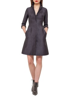 Akris Eve Metallic Chenille Coat Dress