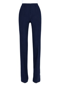 Akris Farah Pinstriped Wool Straight-Leg Pants