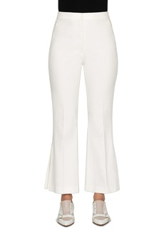 Akris Faria Kick Pleat Ankle Flare Pants