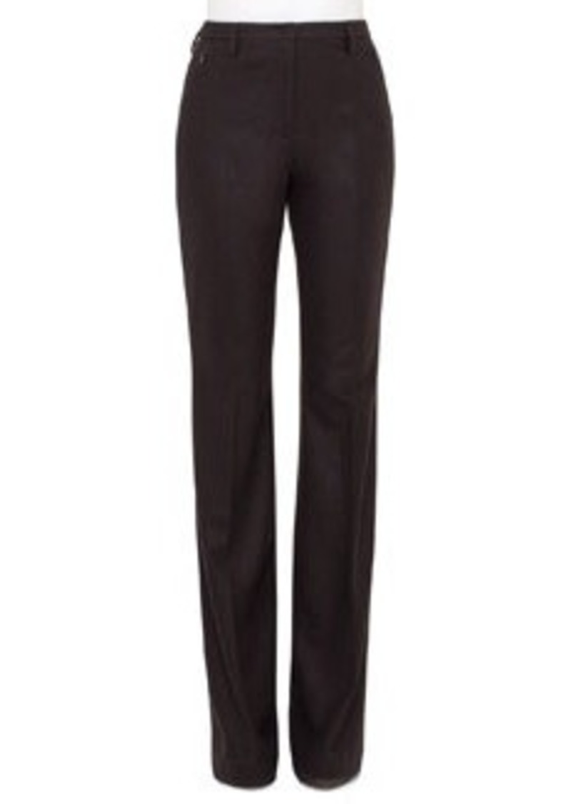 Akris Farrah Stretch-Flannel Boot-Cut Pants