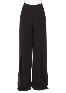 Akris Fellia Wide-Leg Silk Georgette Pants