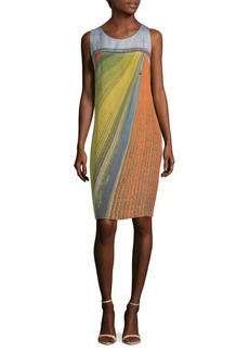 Akris Field-Print Silk Shift Dress