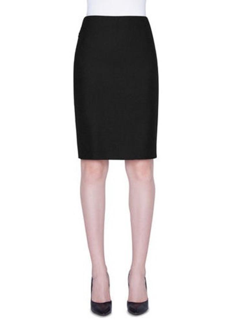 Akris Flannel Pencil Skirt