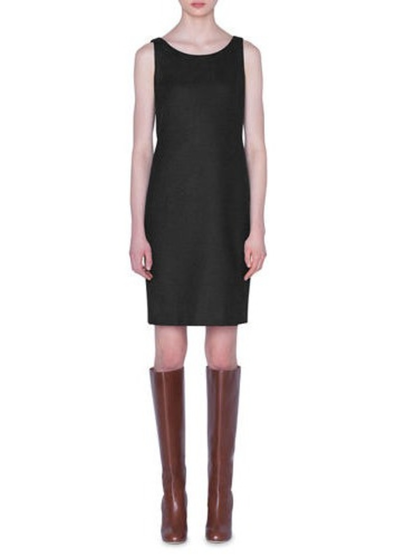 Akris Flannel Sleeveless Sheath Dress