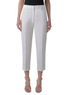 Akris Flavin Double Weave Cotton Ankle Pants