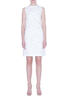 Akris Floral Crinkle Jacquard Dress