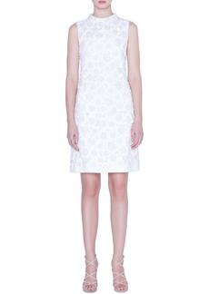 Akris Floral Crinkle Jacquard Dress