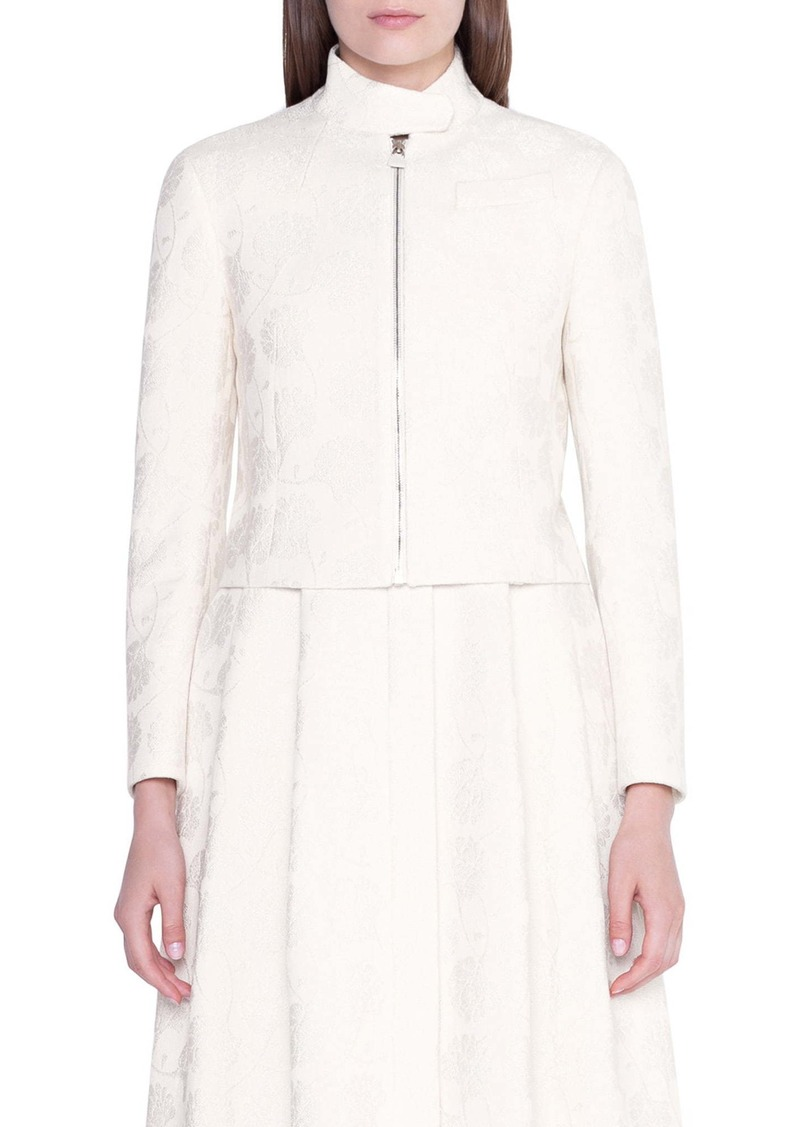 Akris Floral Jacquard Crop Jacket