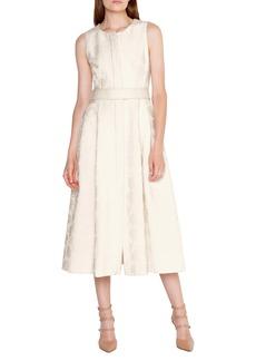 Akris Floral Jacquard Midi Dress