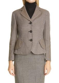 Akris Glen Plaid Virgin Wool Jacket