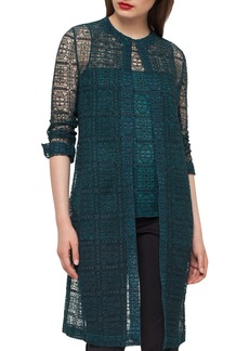 Akris Hadil Lace Long Jacket