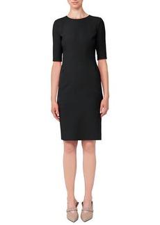 Akris Half-Sleeve Double-Face Wool Dress