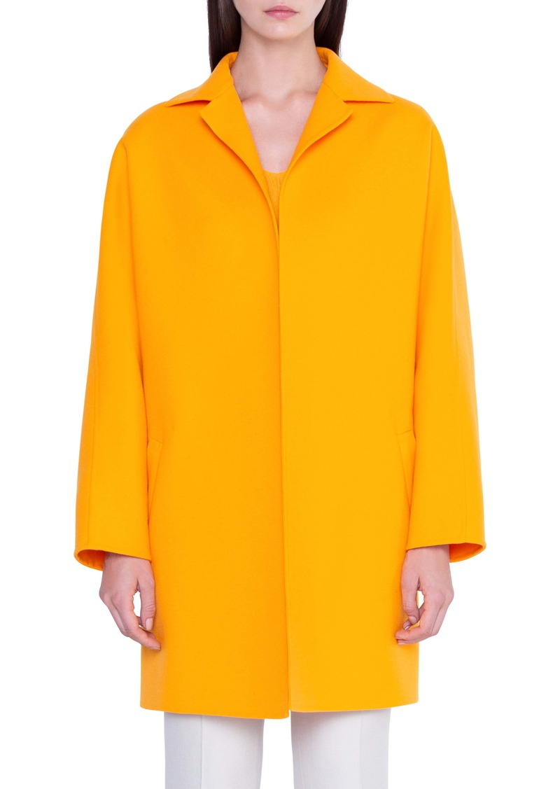 Akris Harlow Oversize Double Face Wool Coat