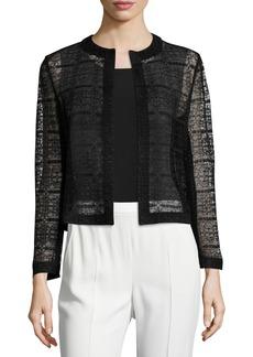 Akris Heidi Lace Open-Front Jacket