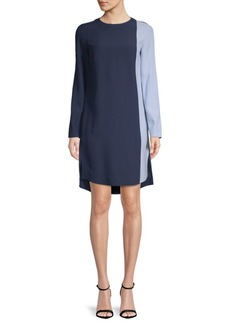 Akris Hi-Lo Colorblock Dress