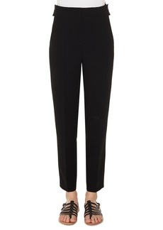 Akris High-Waist Straight-Leg Cropped Wool Pants