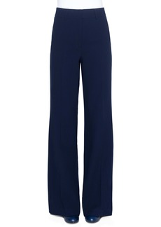 Akris High Waist Wide Leg Double Face Wool Pants