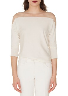 Akris Illusion Yoke Knit Top