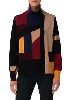 Akris Intarsia Cashmere Sweater